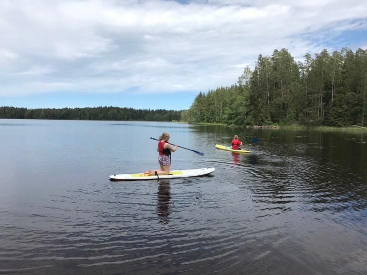 Sup-lautailu, Liesjärven kansallispuisto, lasten kanssa retkellä, Erärenki
