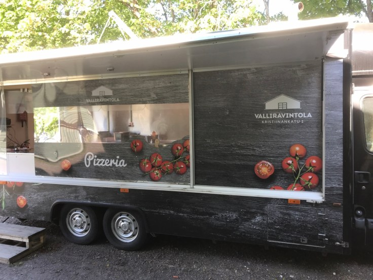 Pizza, Valliravintola, Lappeenranta, linnoitus, Suomi, lomalla kotimaassa