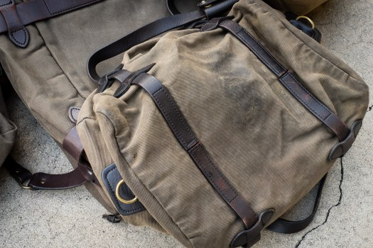 Bottom of a Filson 220 Otter Green Small Duffle Bag