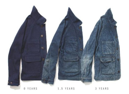 Evolution of the Apolis Chore Coat over 3 years with very very many washes.