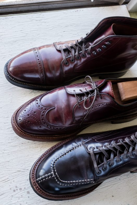 Oldest pair of Color 8 shell cordovan from the top