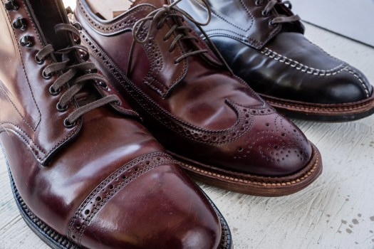 Three pairs of Alden in Horween Color 8 Shell Cordovan