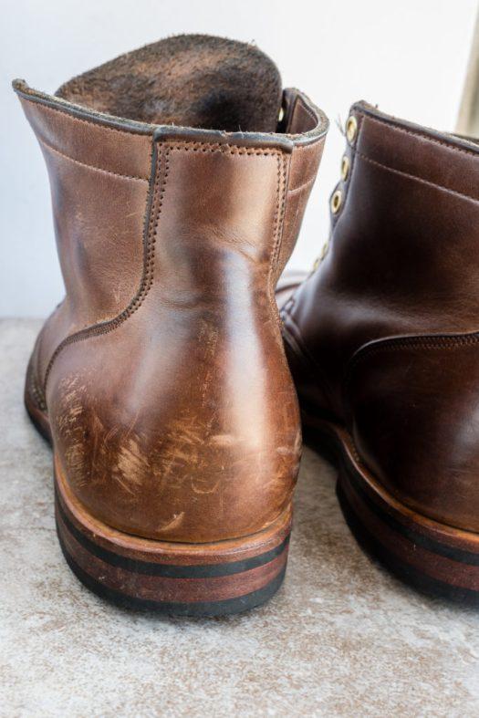 Fairly scuffed heel counter