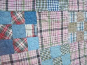 August quilt close up