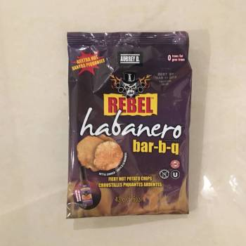Rebel Habanero Bar-B-Q Chips 43g from auntie Ammies candy Shop