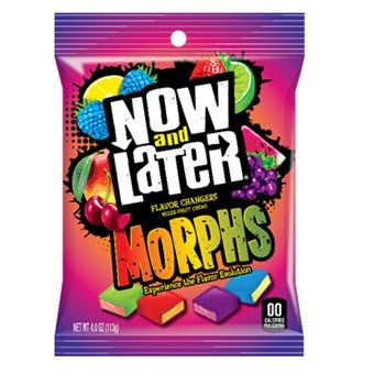 Now & Later Morphs Flavour Changing Candy - (113g)