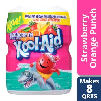 Kool Aid Sweetened Sharkleberry Fin Powdered Drink Mix 538g