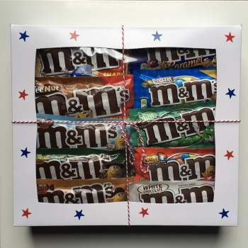 large M&Ms Gift Box from Auntie Ammies American Candy Shop