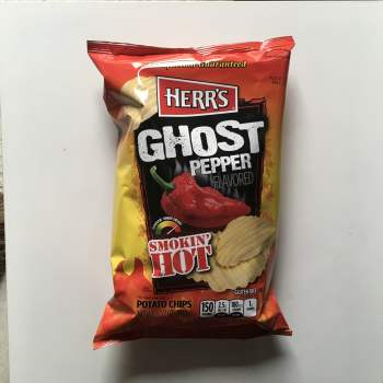 Herr's Smokin' Hot Ghost Pepper Potato Chips - 6.5oz (184.3g) From Auntie ammies Candy Shop