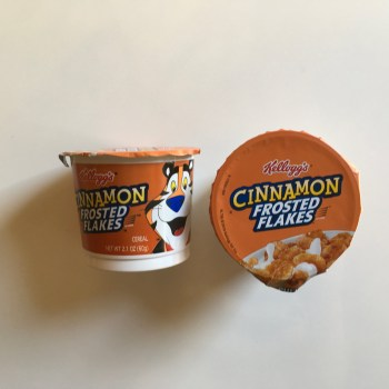Kelloggs Cinnamon Frosted Flakes in a cup 42g From Auntie Ammies American Candy Shop