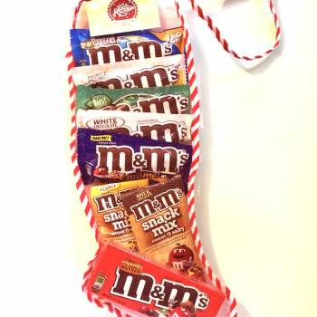 M&Ms Christmas Stocking From Auntie Ammies Candy Shop