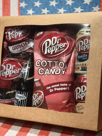 Dr. Pepper Gift Box From Auntie Ammies Candy shop