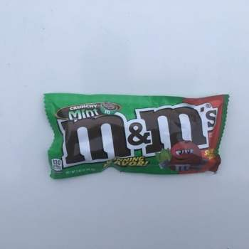 M&Ms crunchy Mint 80g Share Size from Auntie ammies American Candy Shop