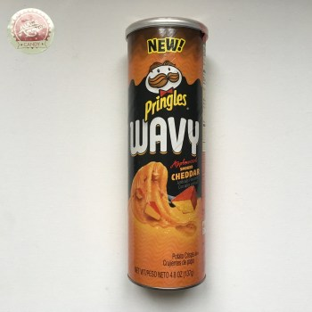 Pringles Wavy Applewood smoked Cheddar 124g from Auntie Ammies candy Shop