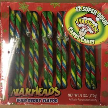 Warheads Wild Berry Candy Canes American candy