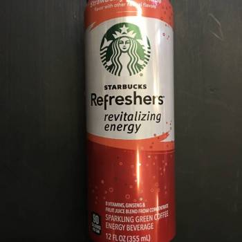 Starbucks Refreshers Strawberry Lemonade American soda Auntie Ammie's Candy Shop.