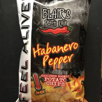 Blair's Death Rain Habanero Pepper Potato chips (142g) From Auntie Ammies Candy Shop