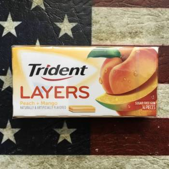 Trident Layers Peach & Mango Gum From Auntie Ammies Candy Shop