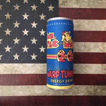 MS. Pac-Man Warp Tunnel Energy Drink From Auntie Ammies Candy Shop