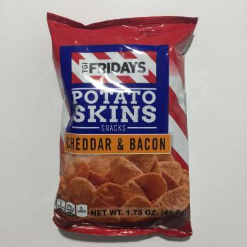 TGI Fridays Cheddar & Bacon Potato Skin Snacks 50g American snacks