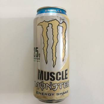 Monster Muscle Vanilla Energy Shake from auntie ammies candy shop.