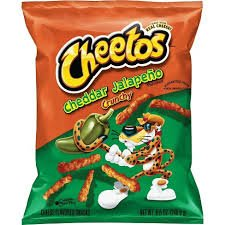 Cheetos Cheddar Jalapeno Crunchy 2OZ 56.7g from Auntie Ammies American Candy Shop