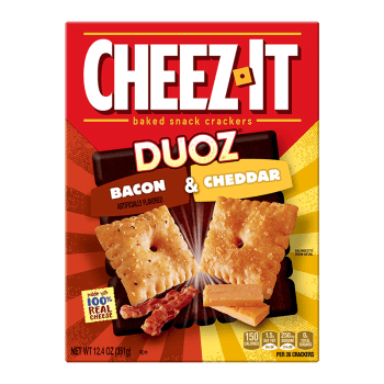 Cheez It Duoz Bacon & Cheddar 12.4oz (351g) BIG BOX