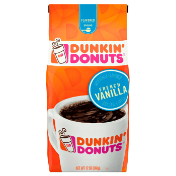 Dunkin' Donuts French Vanilla Ground Coffee 12oz (340g) from Auntie ammies American Candy Shop
