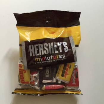 Hershey's miniatures from Auntie Ammie's American Candy Shop UK