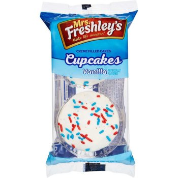 Mrs Freshley's Vanilla cupcakes with sprinkles 102g from Auntie Ammies American candy Shop