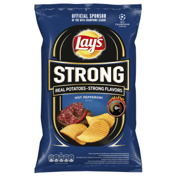 Lay's Strong Hot Pepperoni Flavoured Crinkle Cut Potato Crisps - 130g