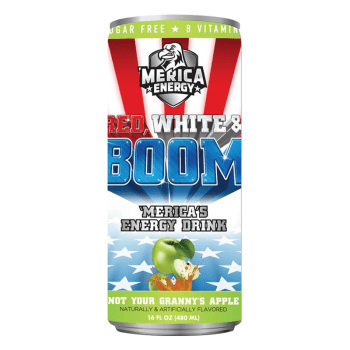 'Merica Energy Red White & Boom - Not Your Granny's Apple - 16fl.oz (480ml) from auntie ammies American candy shop