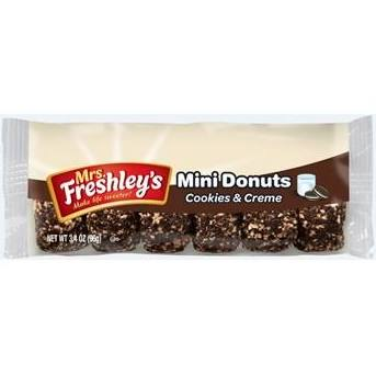 Mrs Freshley's Mini Donuts Cookies & Cream from Auntie Ammies American Candy shop