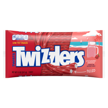 Twizzlers Limited Edition Strawberry Smoothie Filled Twists - 11oz (311g)