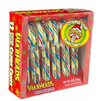 Warheads Super Sour Candy Canes - 6oz (171g)