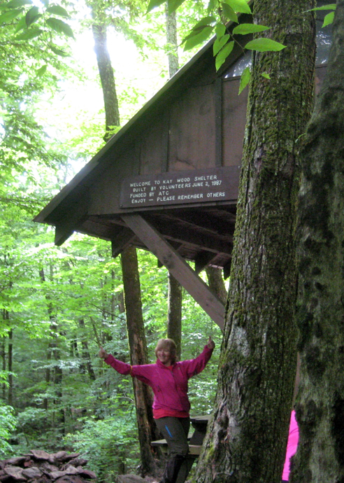 the kay wood shelter on the appalachian trail