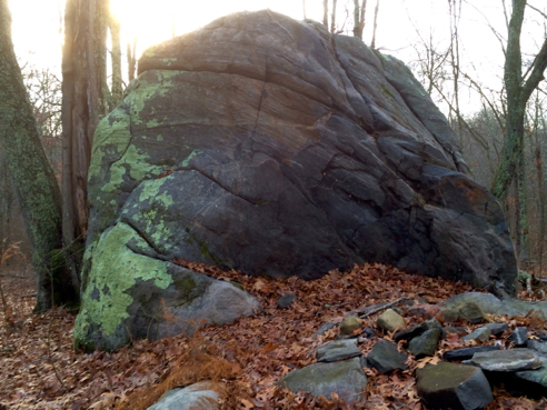big rock on the x-country trail