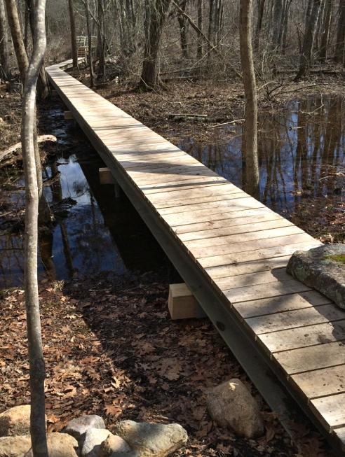 boardwalk to the bridge
