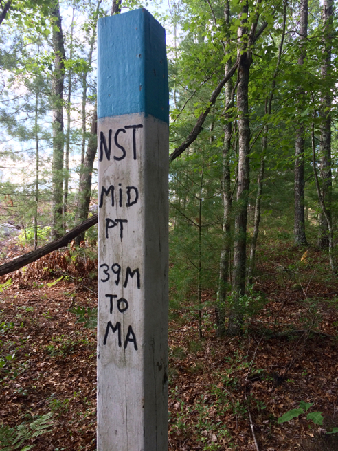 north-south trail midpoint