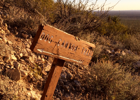 Dog Canyon Trail Sign
