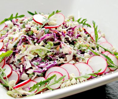 blue cheese coleslaw