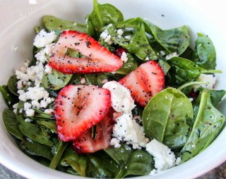 Spinach, Strawberry & Goat Cheese Salad