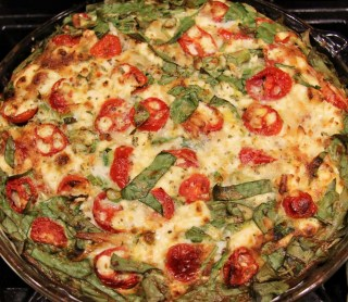 baked spinach and tomato quiche