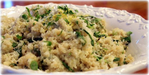cheesy lemon quinoa