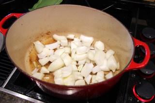onions deglazing pan