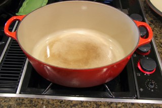 red Le Creuset Dutch oven
