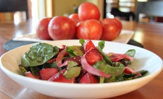 beet and pluot salad