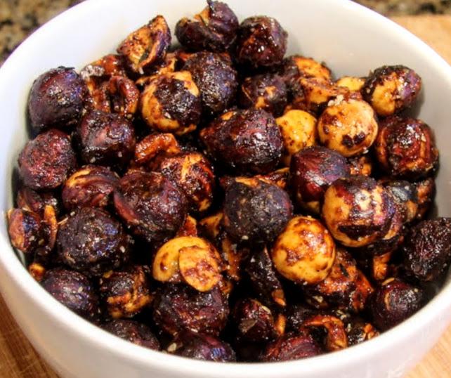 spiced hazelnuts