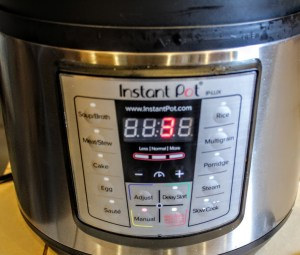 manual setting on instant pot