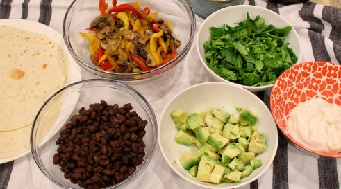 Black Bean and Veggie Burritos